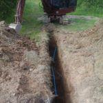 Praca nadprzyłączeniem kanalizacji